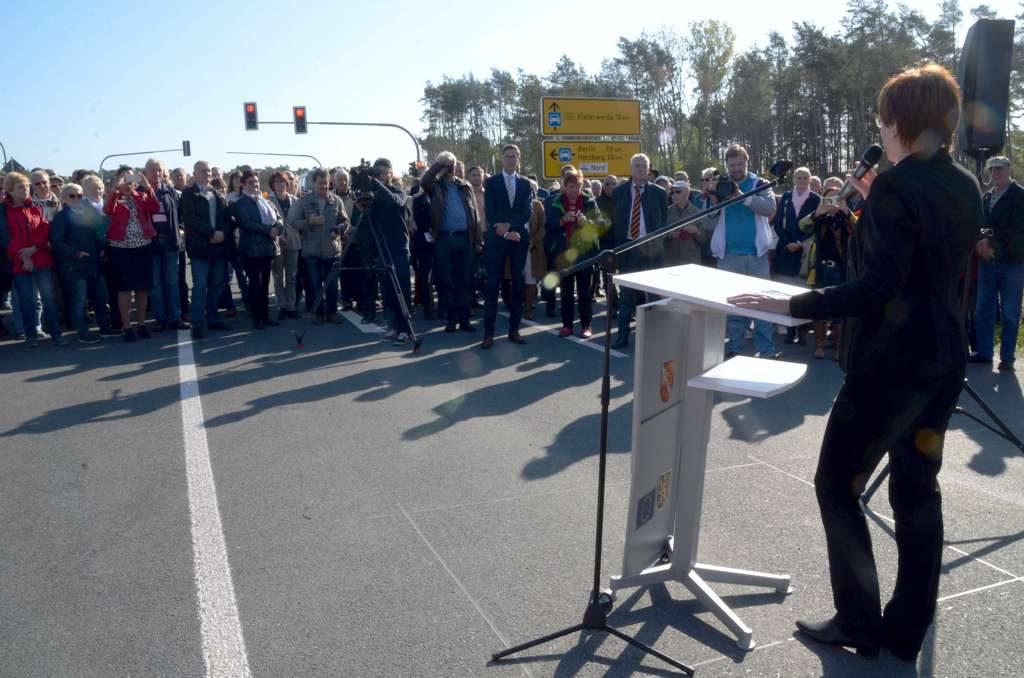 Eröffnung der B183 durch den Verkehrsminister des Landes
