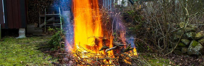 Gartenabfälle verbrennen